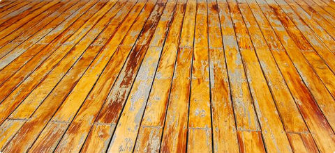 crack/peeling deck coating