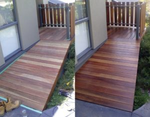 Spotted Gum decking oil